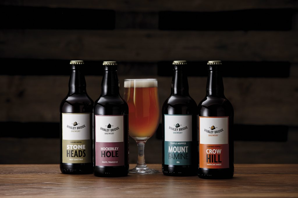 Whaley Bridge Brewery Rebrand new logo new beer labels