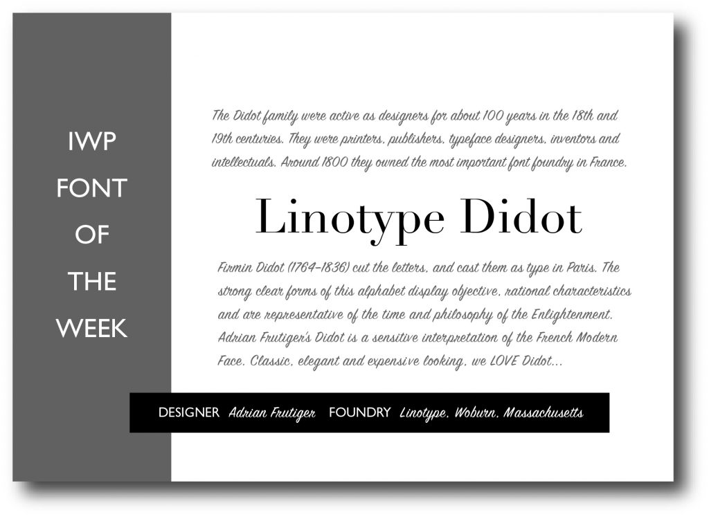 IWP font of the week 3